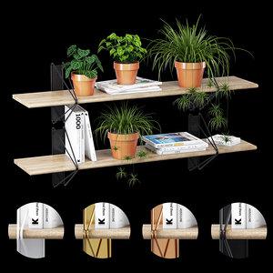 3D shelf bookcase book