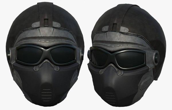 helmet sci fi model