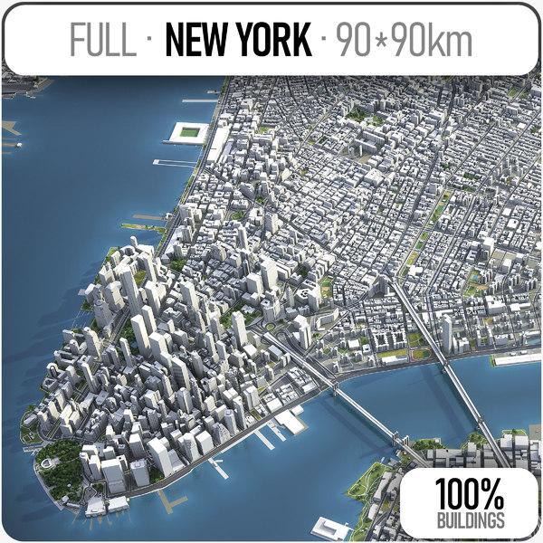 3D model buildings new york