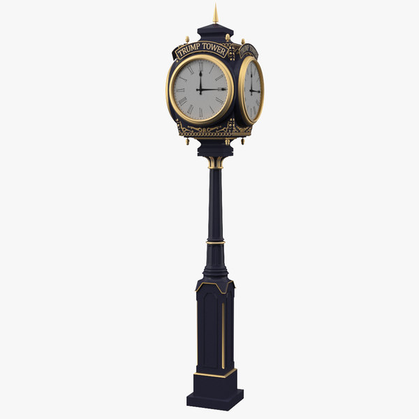 3D trump tower clock