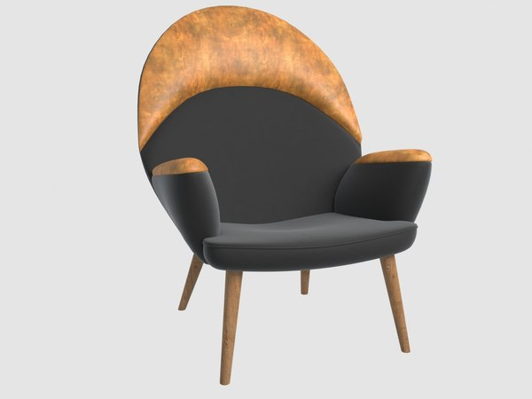 jh 521 peacock chair 3D model