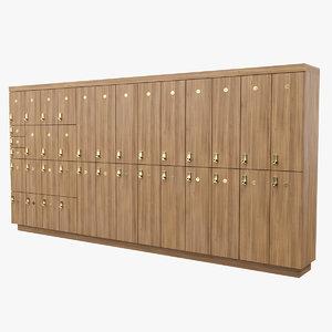 3D model locker cabinet