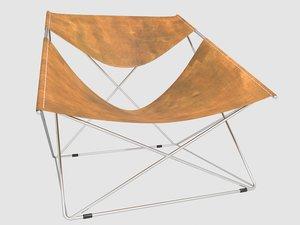 silla butterfly 675 pierre paulin model