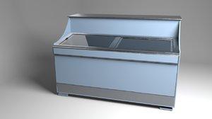 3D modern chest freezer