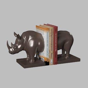 rhino bookend 3D model