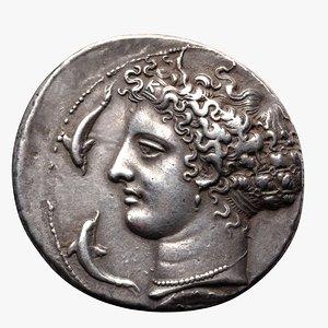 3D ancient greek sicily bc