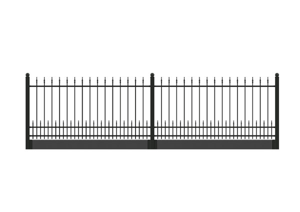 spiked metal fence solidworks 3D model