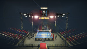 boxing arena low-poly 3D