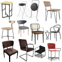 realistic modern chairs 40 3D