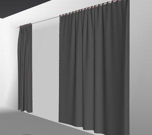 3D curtains03 bigger marvelous designer model
