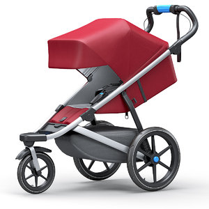 jogging stroller thule urban 3D model