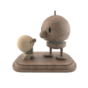 wooden men toy 3D model
