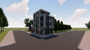 revit apartment 3D model