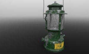 old ww2 kerosene lamp 3D model