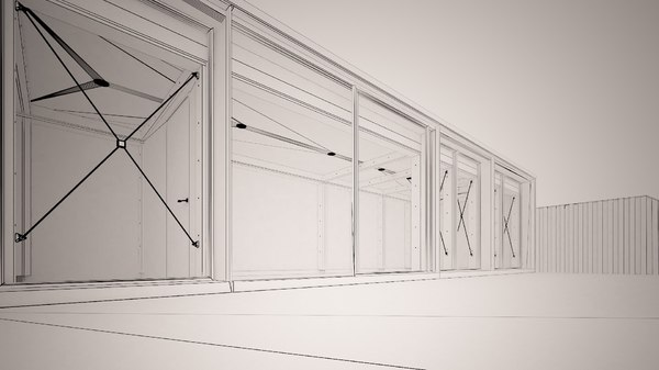 3D model minimal container house