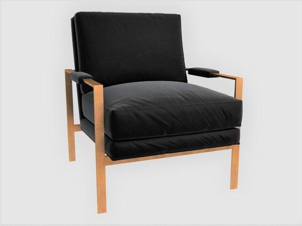 3D milo armchair dering hall
