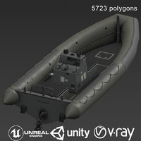 3D model vessel rib ship