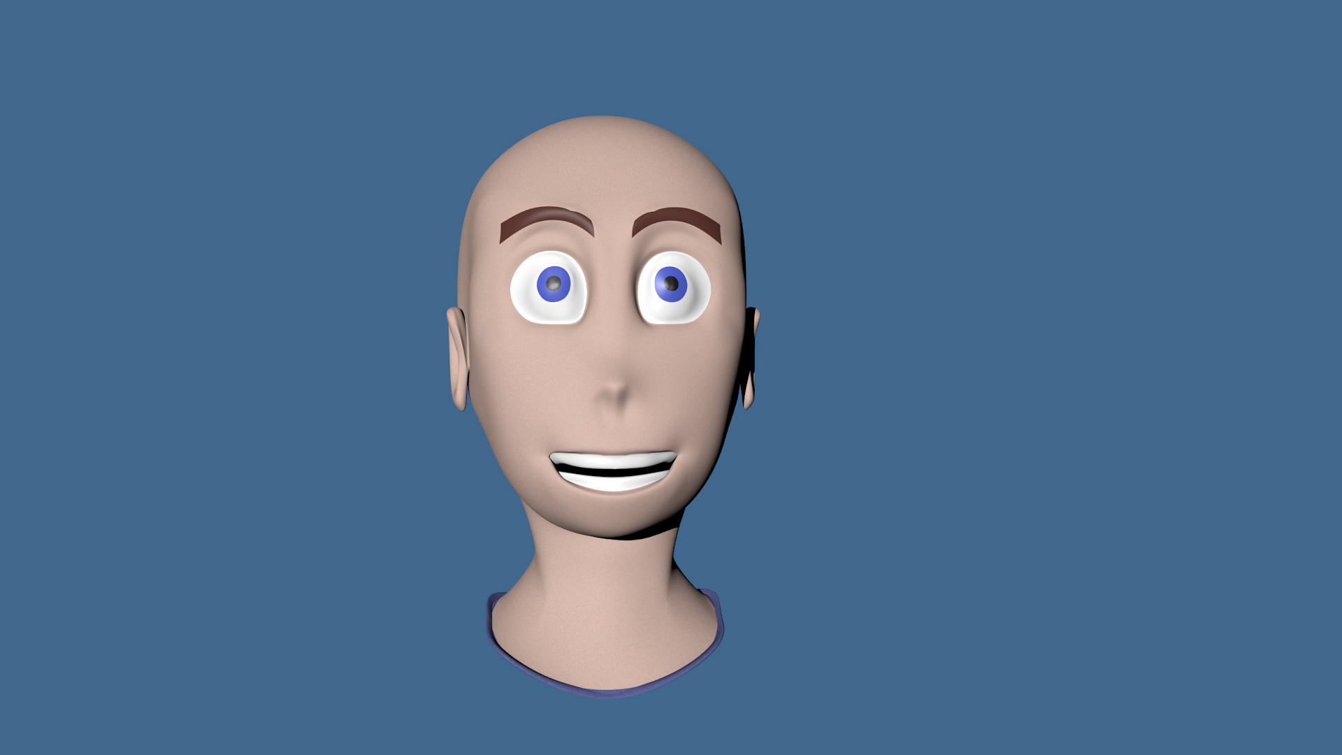 3D cartoon head
