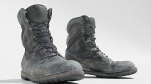 3D model worn boot