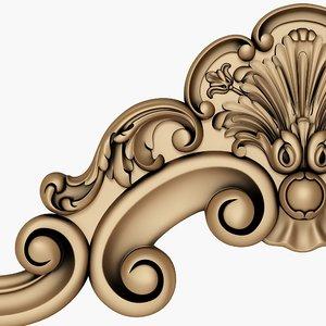 decor carved cnc 3D