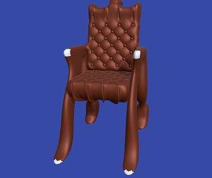 armchair design 3D model