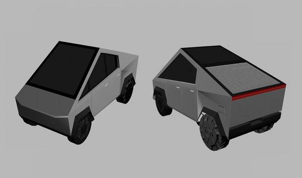 3D cartoon cybertruck model