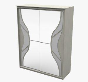 closet room furniture 3D model