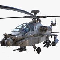 AH-64D Apache Longbow Low Poly