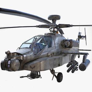 3D ready ah-64d apache longbow model