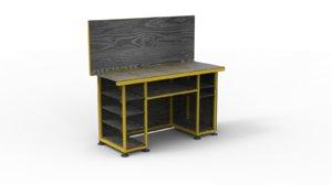 3D durable metal workbench garage