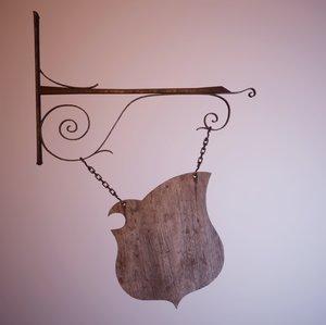 3D medieval sign