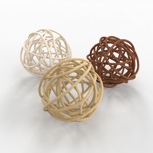 decorative clews twigs 3D