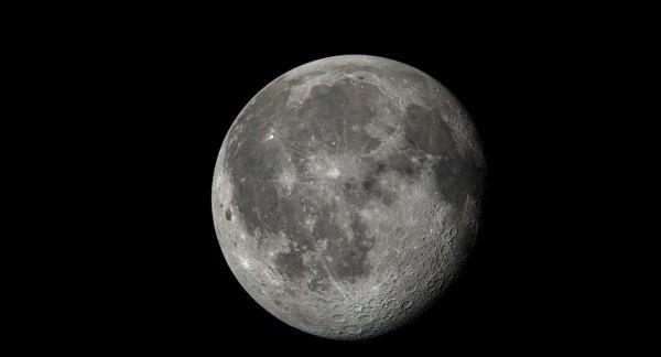 moon planet astronomy 3D model