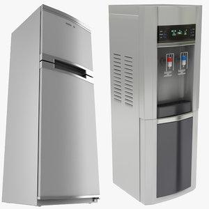 3D water coolar refrigerator