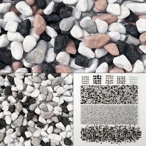 3D model stone pebble
