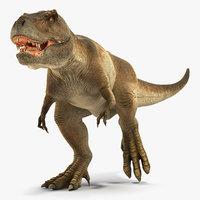tyrannosaurus rex running animal 3D model