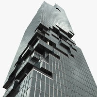 mahanakhon building 3D