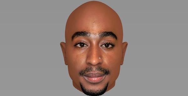 tupac shakur 3D model