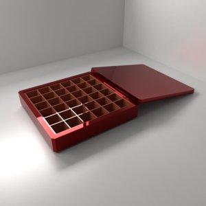 3D chocolate box