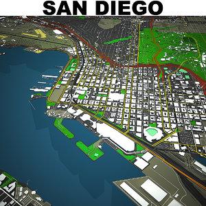 san diego cityscape 3D