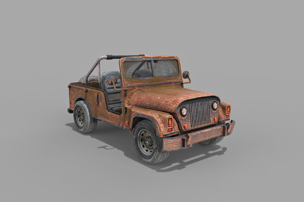 old military jeep car games 3D model