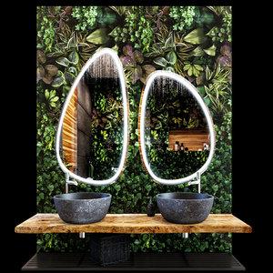 decorative bathroom eco 3D model