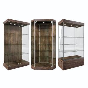 shelves glass 3D model
