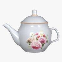 3D realistic old soviet teapot