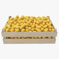 apricots 01-02 wooden crate 3D