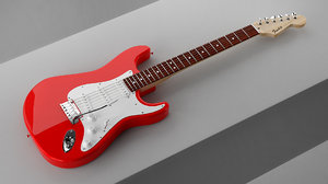 electric guitar fender 3D
