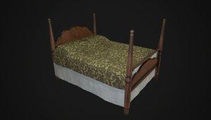 3D vintage bed