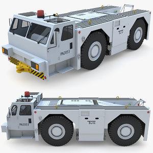 3D aircraft tractor tug model
