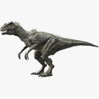 3D v-ray rigged allosaurus model