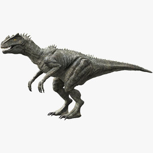 3D v-ray rigged allosaurus model